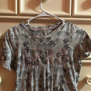 Aeropostale Grey Palm Tree Shirt w/ logo